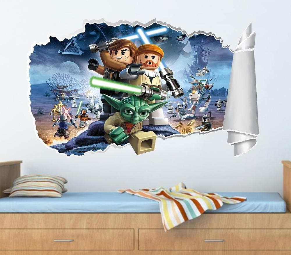 Lego Star Wars Wall Art For Most Popular Lego Star Wars Wall Decals (View 4 of 15)