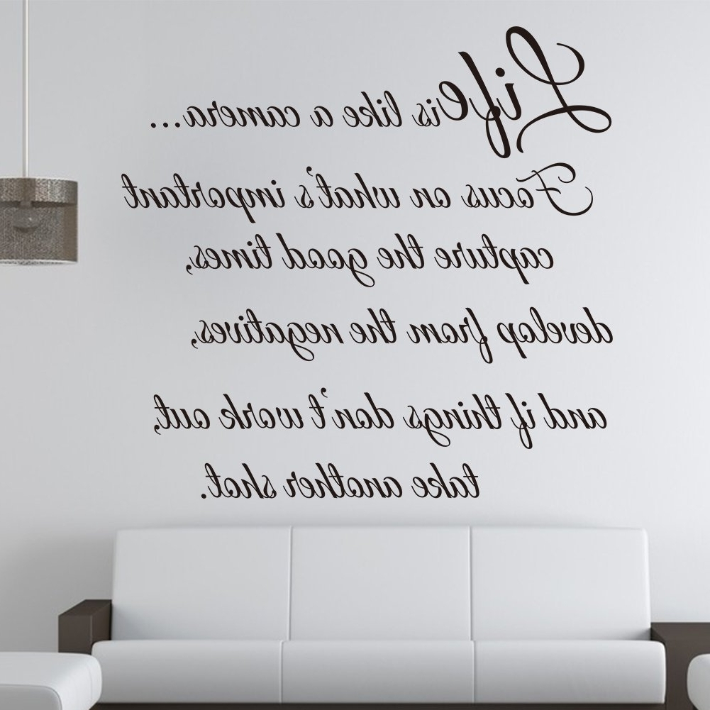 Life Is Like A Camera – Wall Decal Quote Wall Saying Wall Vinyl In Most Current Life Is Good Wall Art (View 3 of 15)