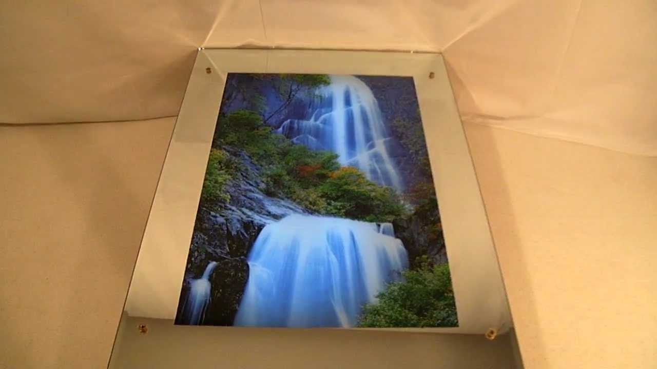 Lighted Moving Motion Waterfall Mirror With Nature Sounds – Youtube Regarding Latest Moving Waterfall Wall Art (View 6 of 15)