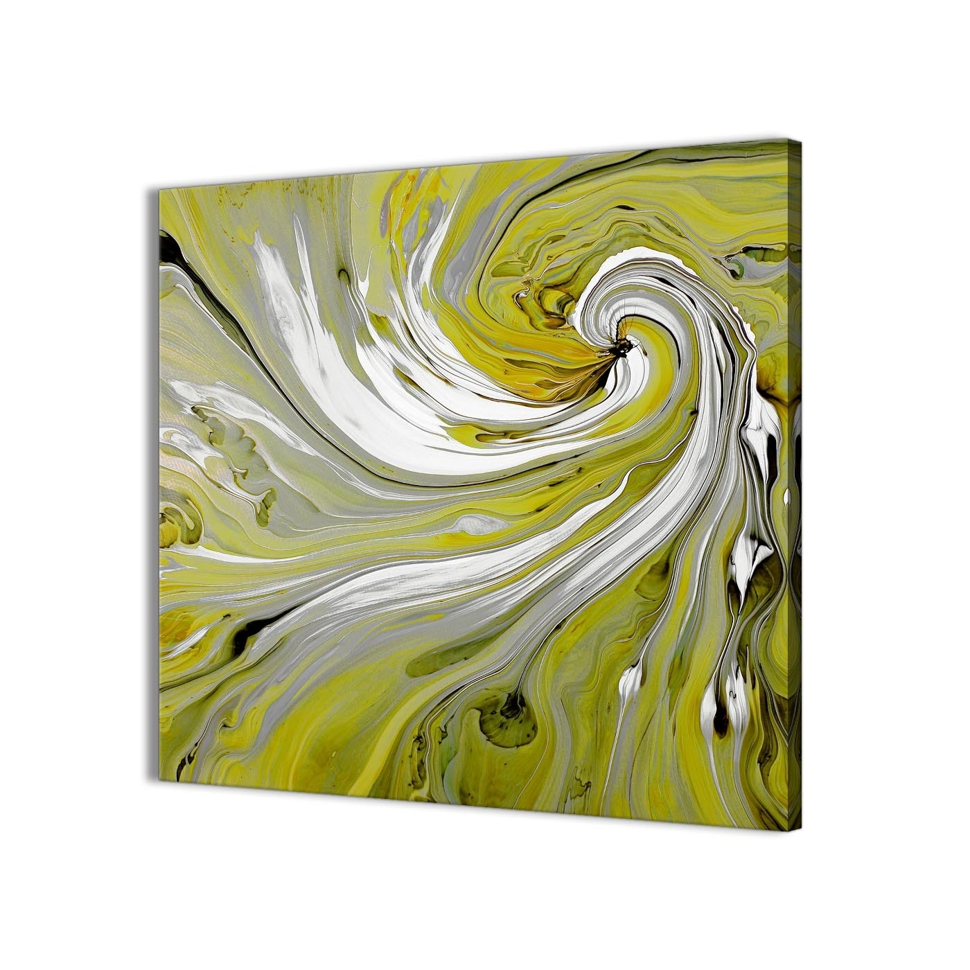 Lime Green Swirls Modern Abstract Canvas Wall Art – Modern 79cm In Well Known Lime Green Abstract Wall Art (View 14 of 15)