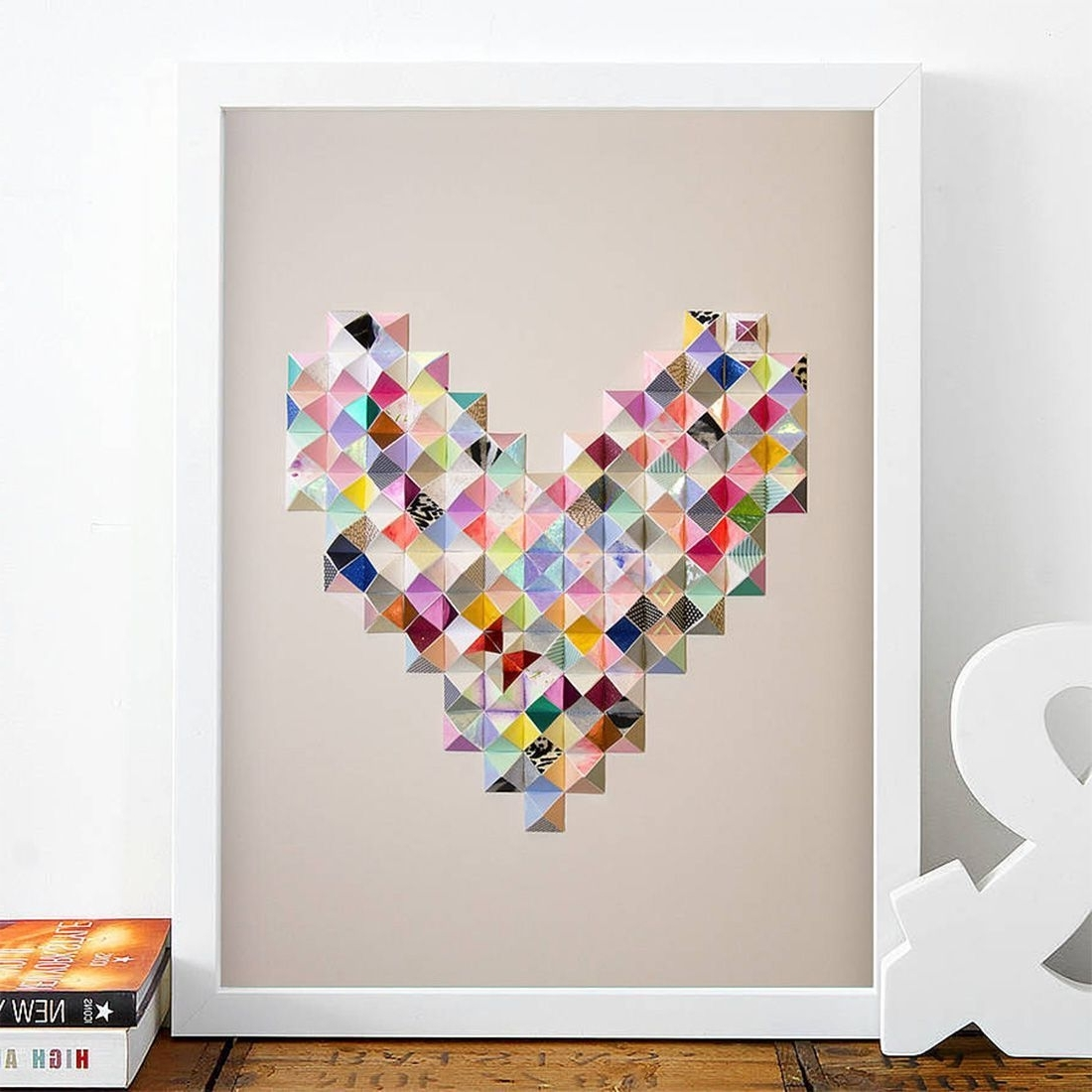 Limited Edition Paper Heart Art Print (View 9 of 15)