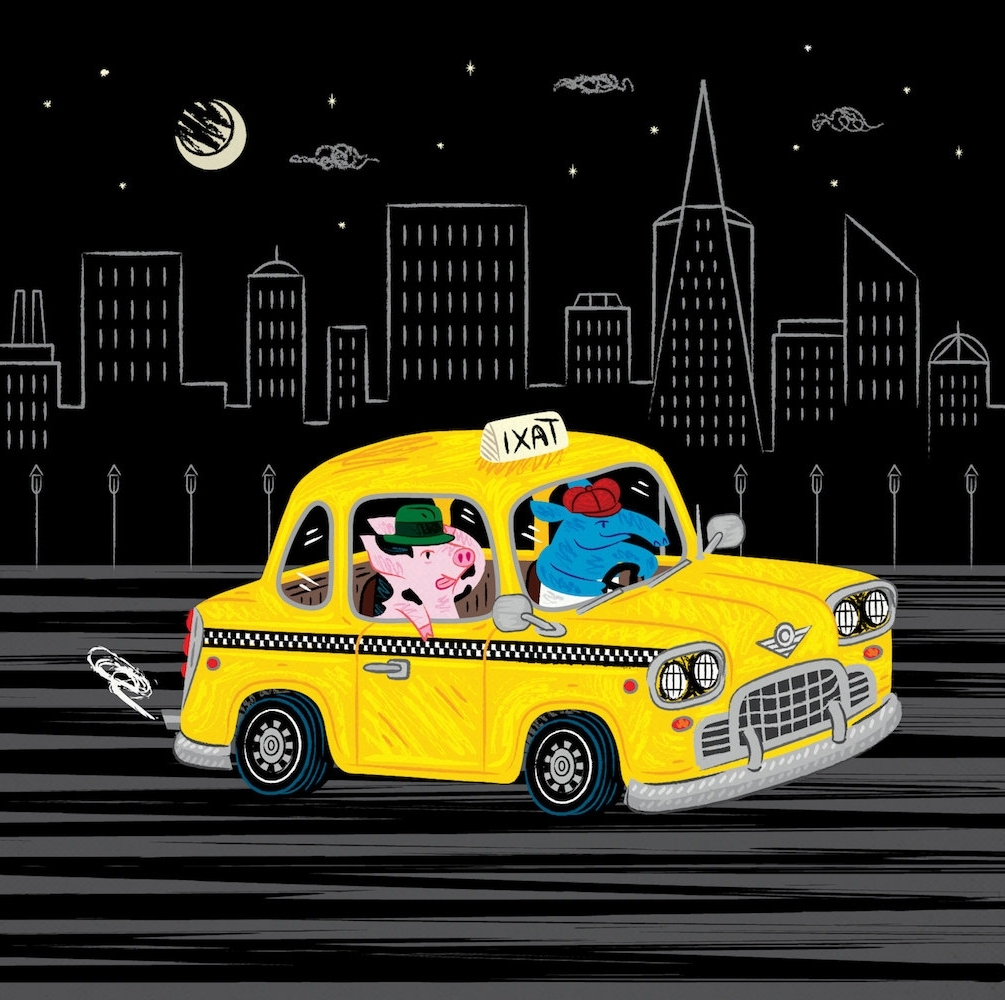 Limited Edition Wall Art Throughout 2017 Taxi Ride – Limited Edition – Animal Illustration – Wall Art (View 7 of 15)