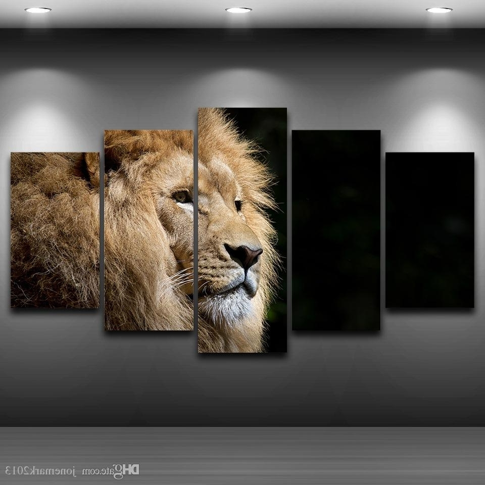 Lion Wall Art With Regard To Famous 2018 Lion Head Framed Wall Art Picture Artistic Printed Drawing On (View 8 of 15)