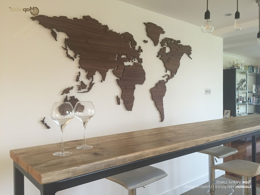 Living Room : Awesome Wooden World Map Wall Art Etsy Metal World Intended For Favorite Wooden World Map Wall Art (View 4 of 15)