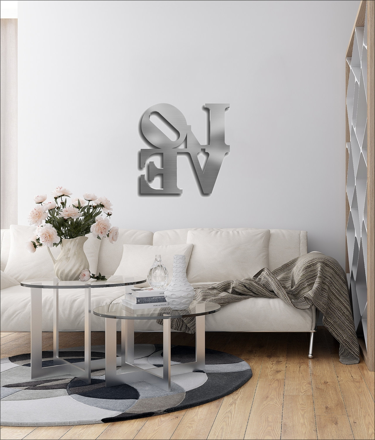 Love Metal Wall Art, Love Wall Decor, Word Art, Contemporary Metal In Most Popular Big Metal Wall Art (View 14 of 15)