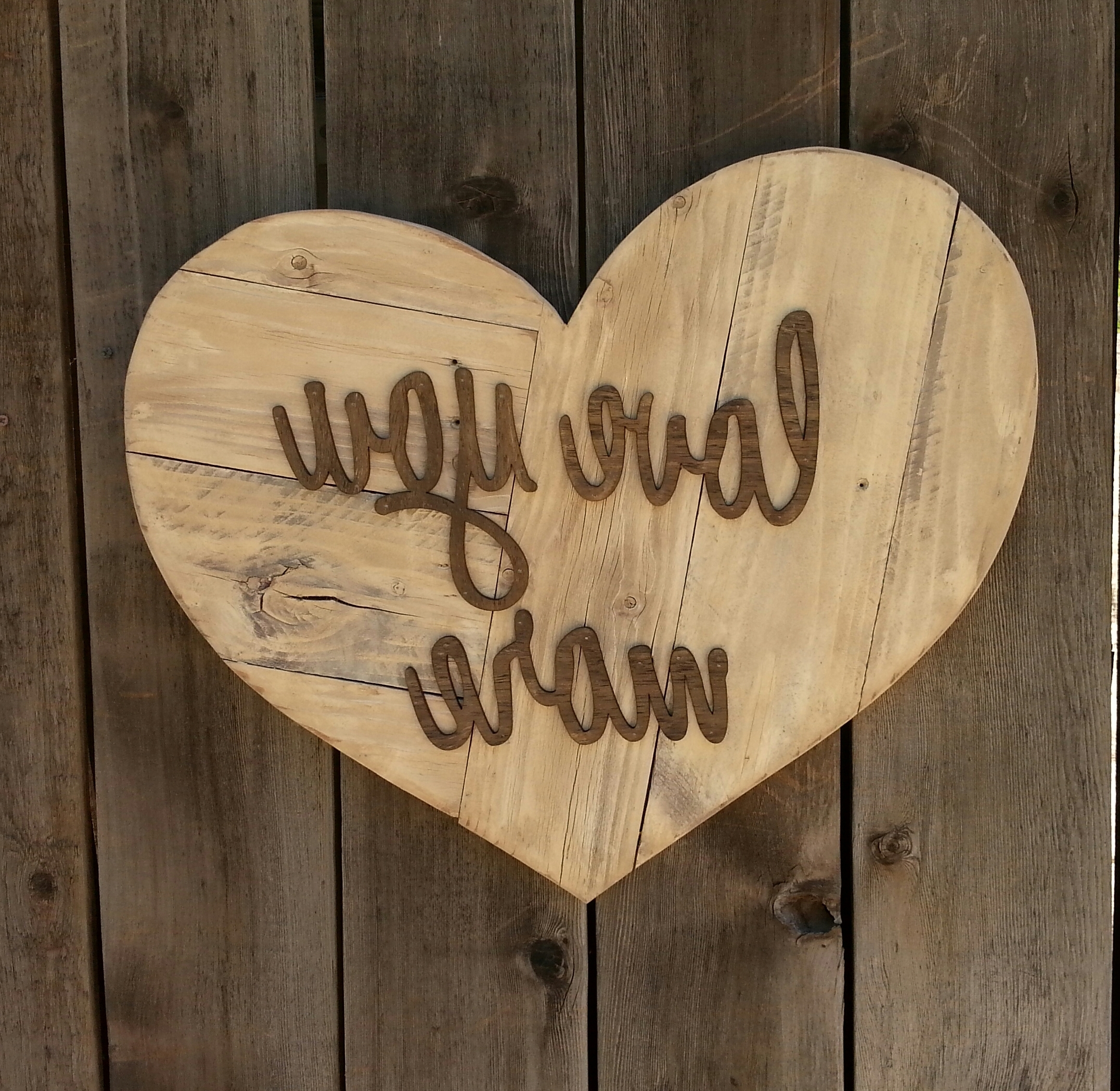 Love You More Heart Reclaimed Wood Sign, Twinkle Twinkle Little One Throughout Current I Love You More Wall Art (View 6 of 15)