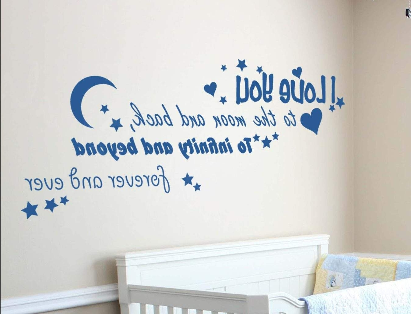 Love You To The Moon And Back Wall Art Inside Preferred Spread Love With Love Based Wall Decals (View 8 of 15)