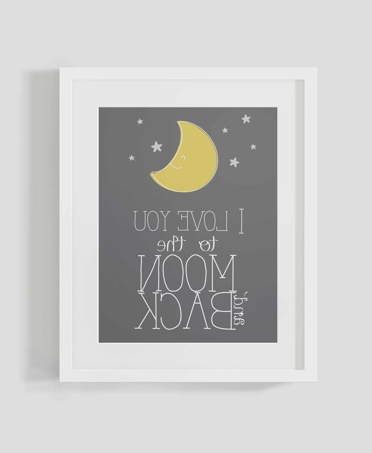 Love You To The Moon And Back Wall Art Pertaining To Well Known I Love You To The Moon And Back Poster (View 9 of 15)