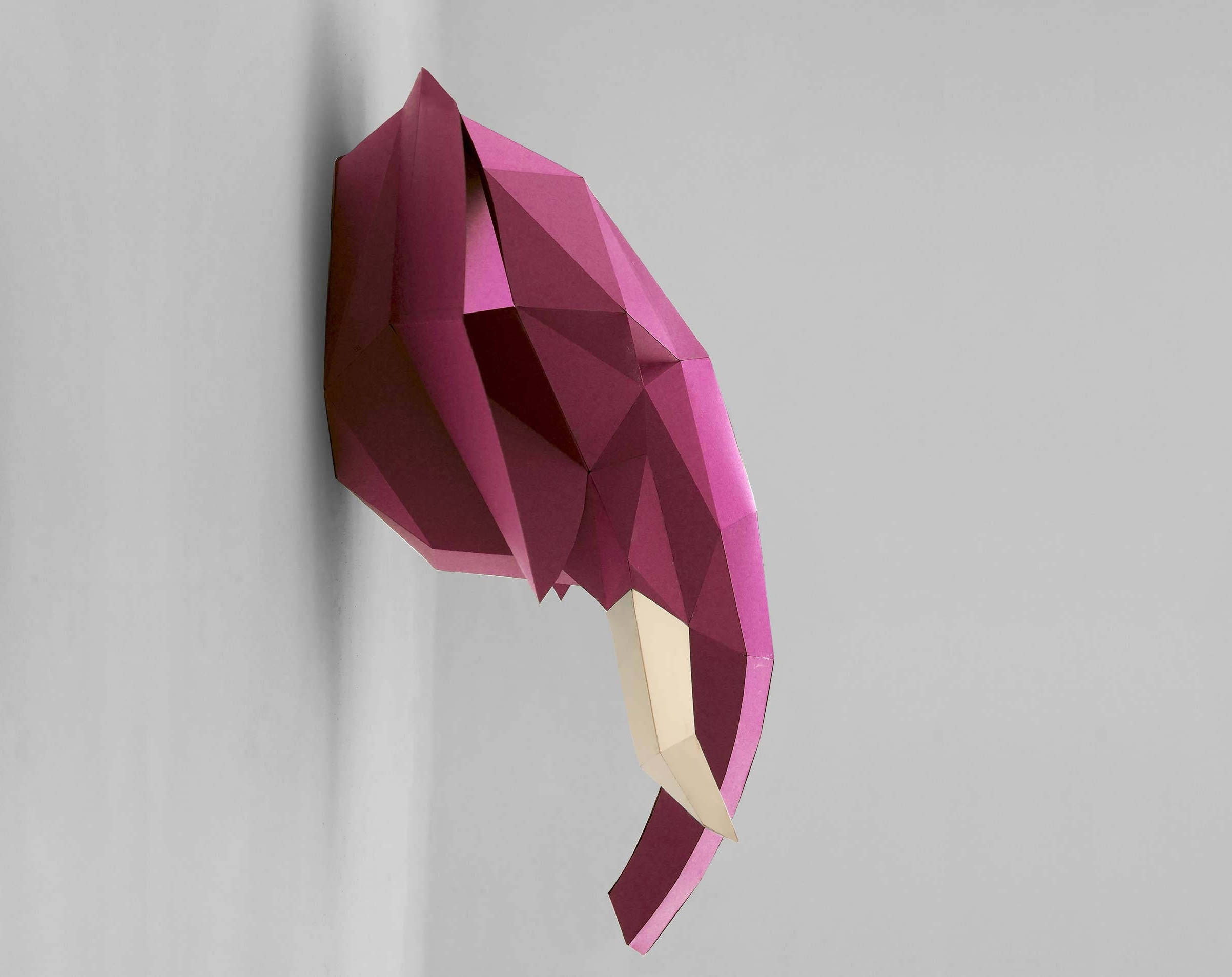 Low Poly Animal Head (View 8 of 15)