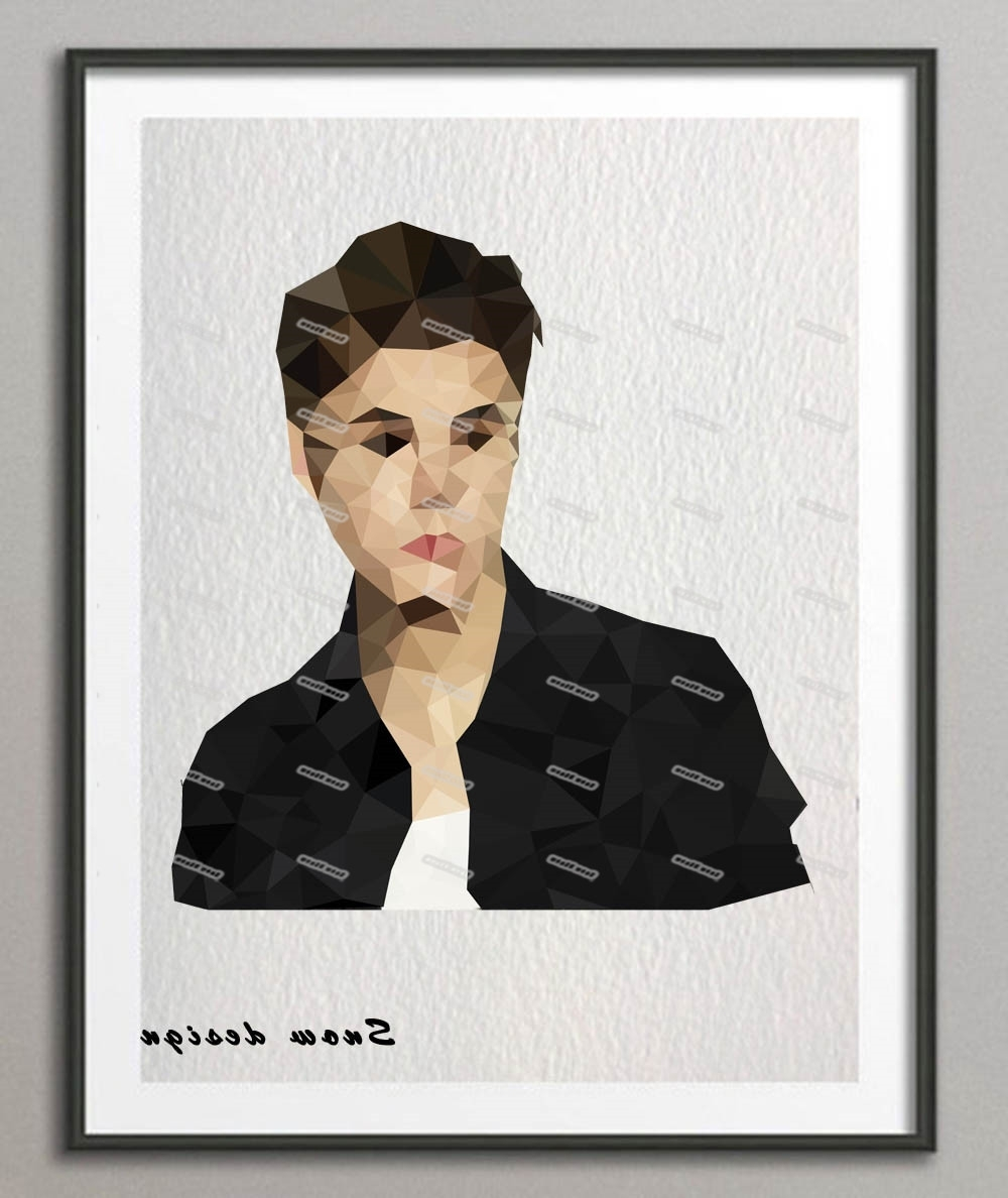 Low Poly Modern Geometric Justin Bieber Canvas Painting Wall Art Intended For 2018 Justin Bieber Wall Art (View 7 of 15)