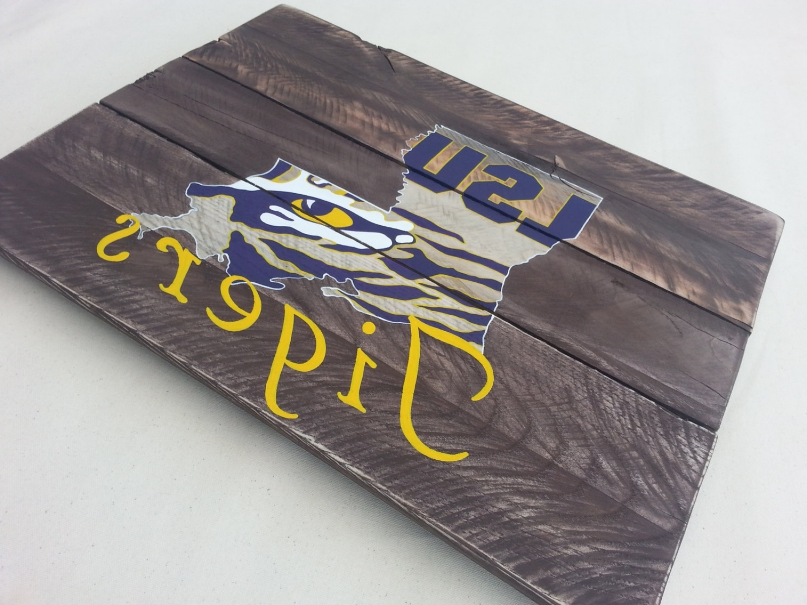 Lsu Tiger Eye Hand Painted Pallet Art Or Pallet Sign Original For Well Known Lsu Wall Art (View 6 of 15)