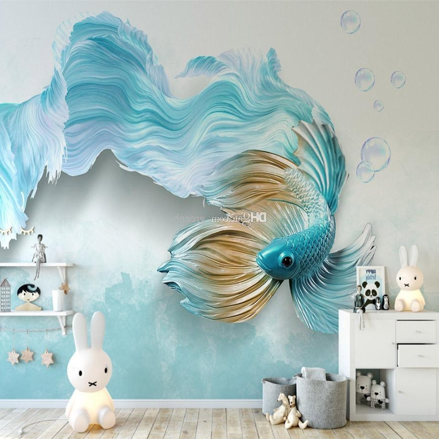 displaying gallery of fish 3d wall art (view 10 of 15 photos)