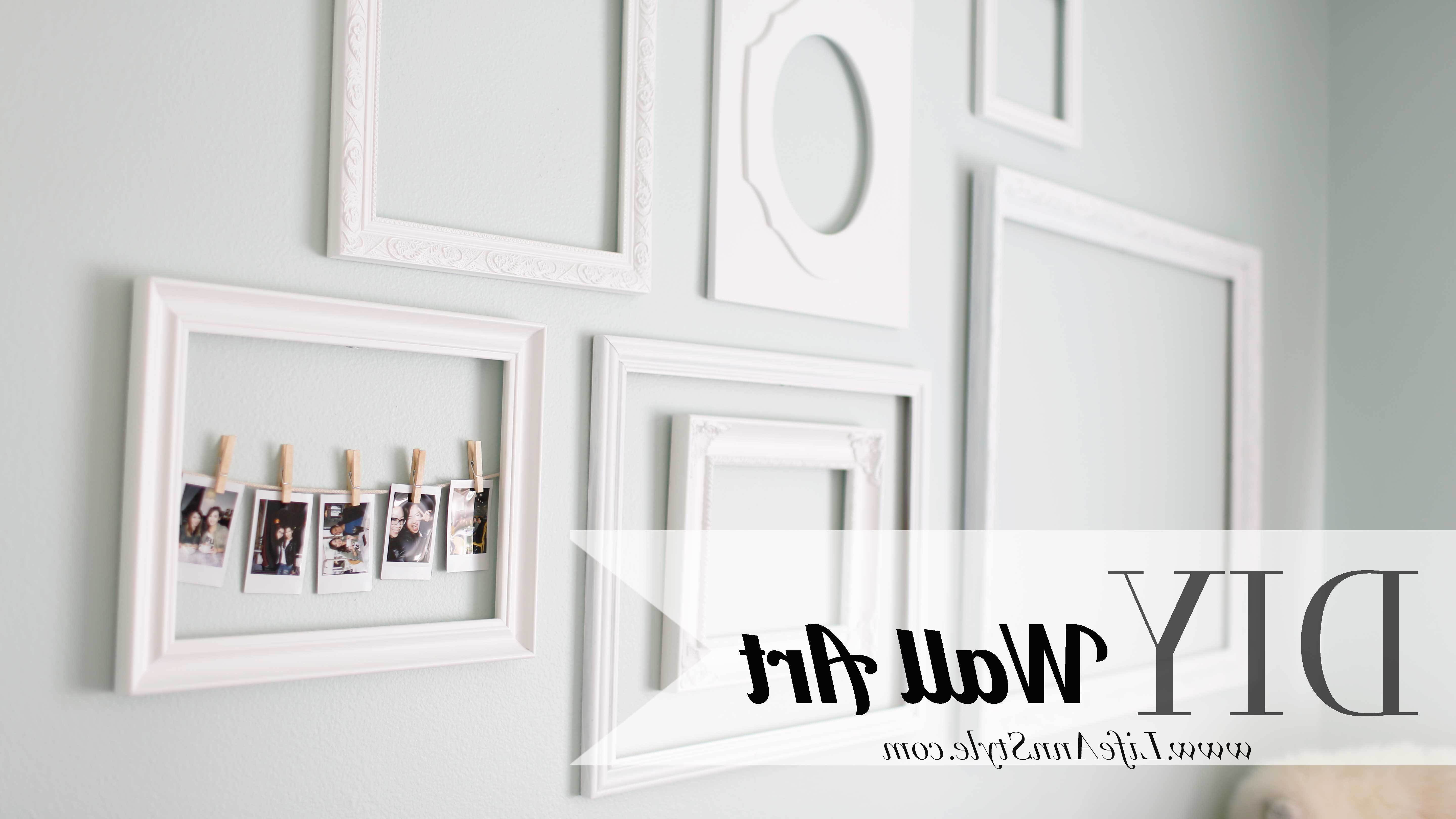 Make A Statement With Empty Picture Frames As Wall Art – Ann Le Style Regarding Most Popular Wall Art Frames (View 7 of 15)