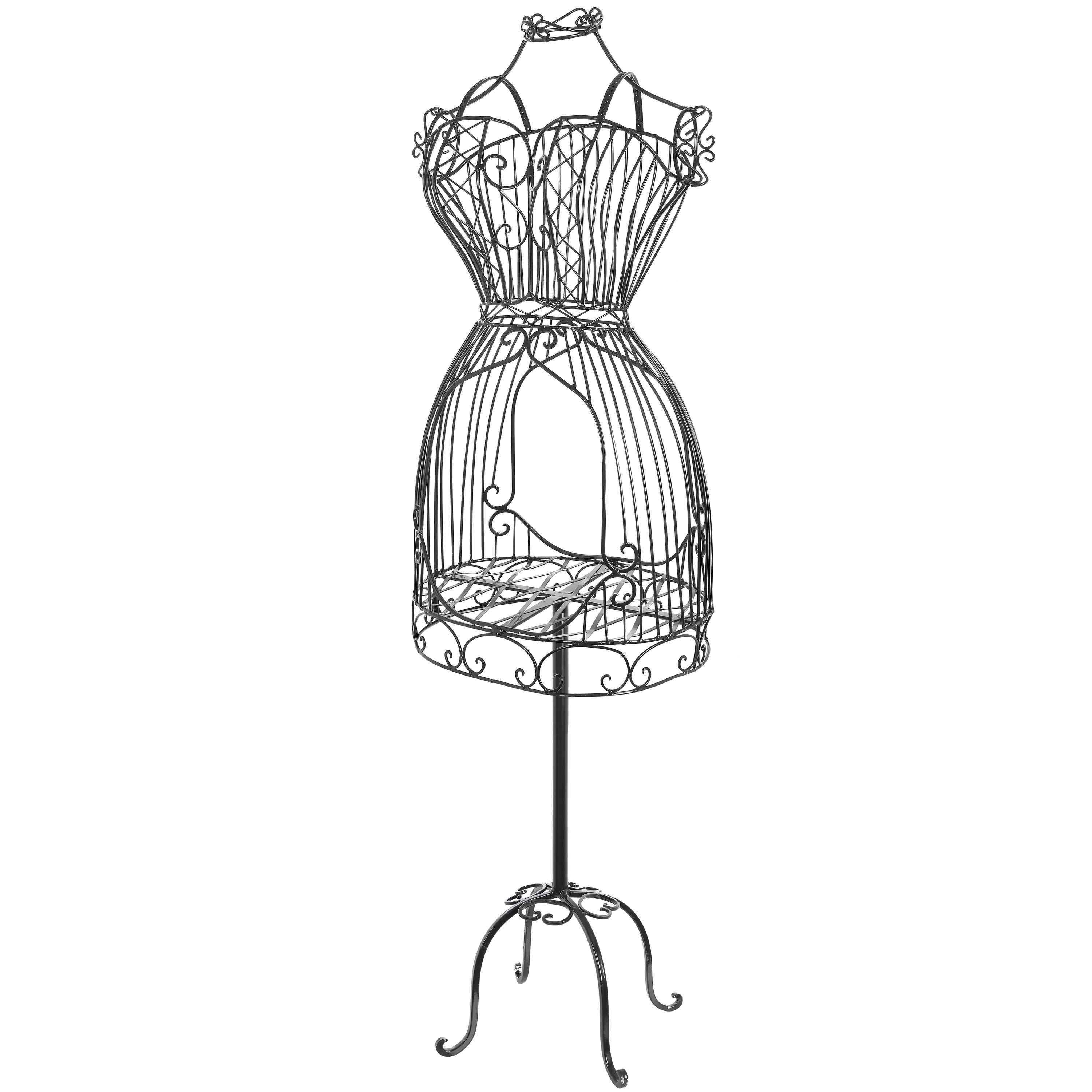 Mannequin Wall Art Throughout Well Known Vintage Scrollwork Decor Adjustable Wire Frame Mannequin Stand (View 9 of 15)