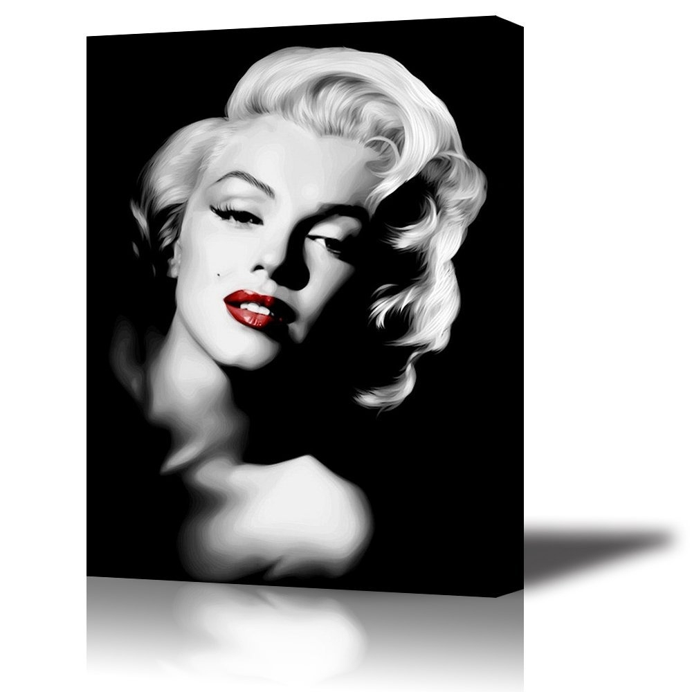 Marilyn Monroe Framed Wall Art Regarding Favorite Amazon: Piy Red Lips Marilyn Monroe Wall Art With Frame (View 7 of 15)