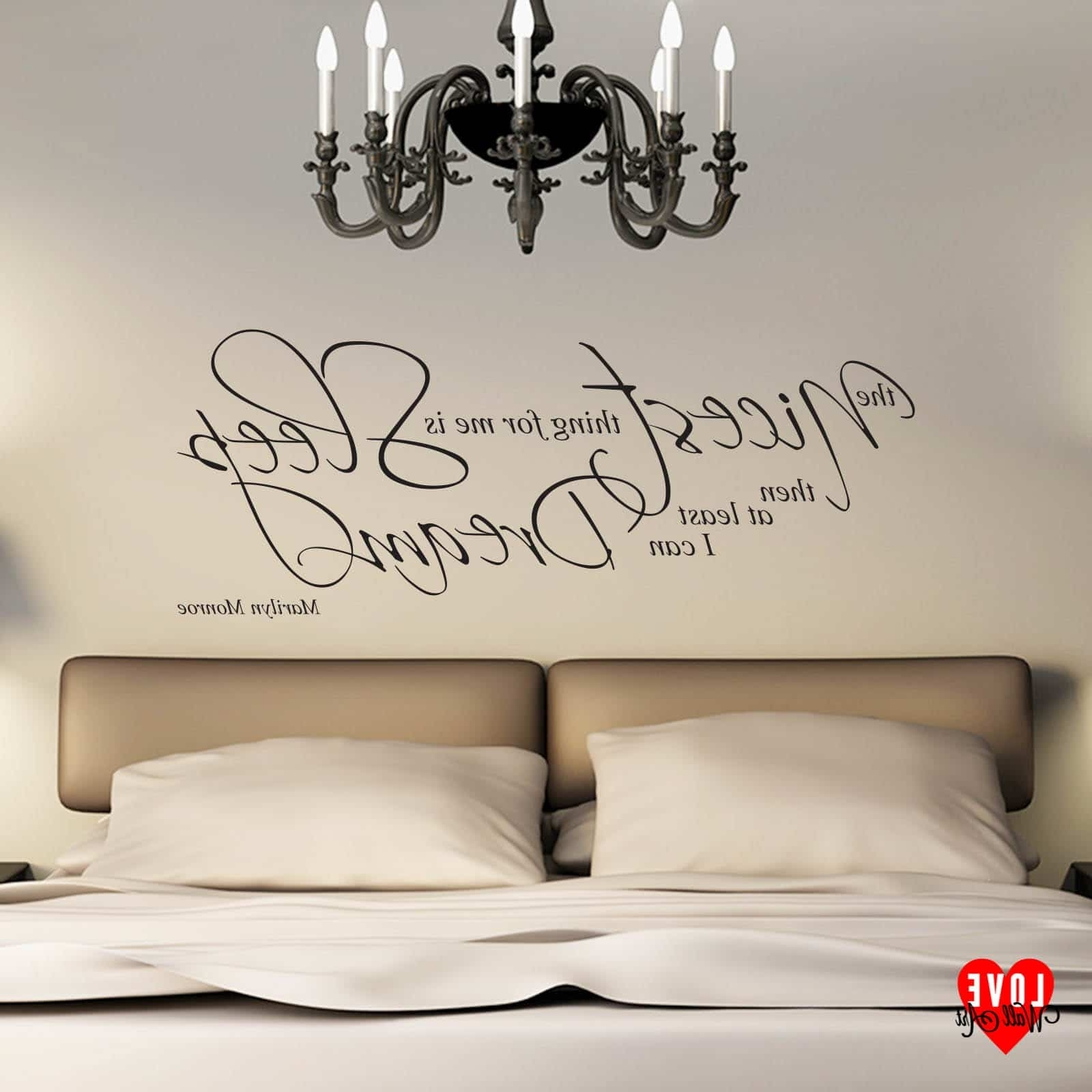 Marilyn Monroe Quote The Nicest Thing For Me Is Sleep Wall Art Intended For Widely Used Marilyn Monroe Wall Art Quotes (View 4 of 15)