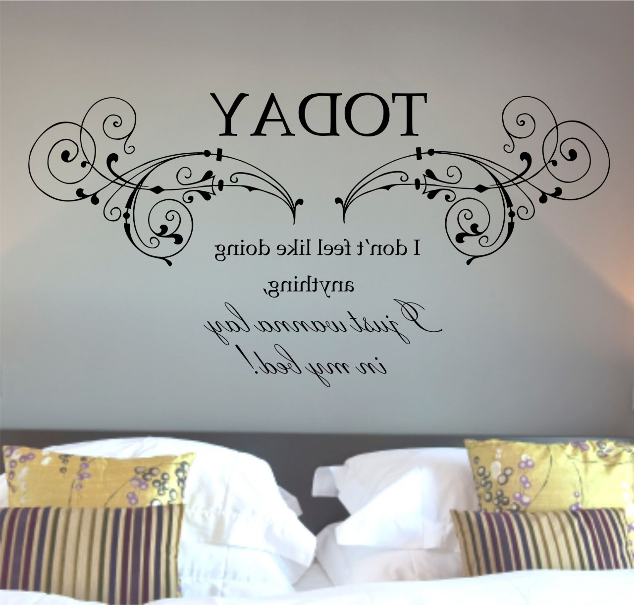Mars Lazy Song Quote Wall Art Sticker Decal (View 15 of 15)