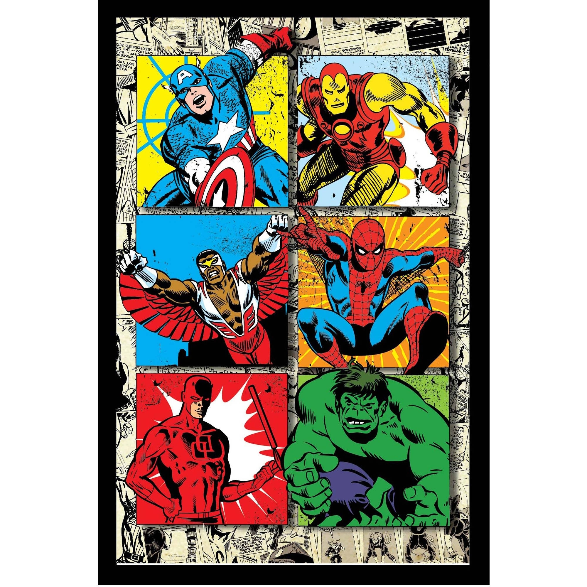Marvel 3D Wall Art With 2018 Marvel Avengers Retro Framed 3D Wall Art – Walmart (View 9 of 15)