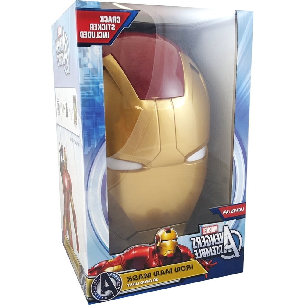 Marvel – The Avengers 3d Wall Art Iron Man Face Nightlight (View 10 of 15)