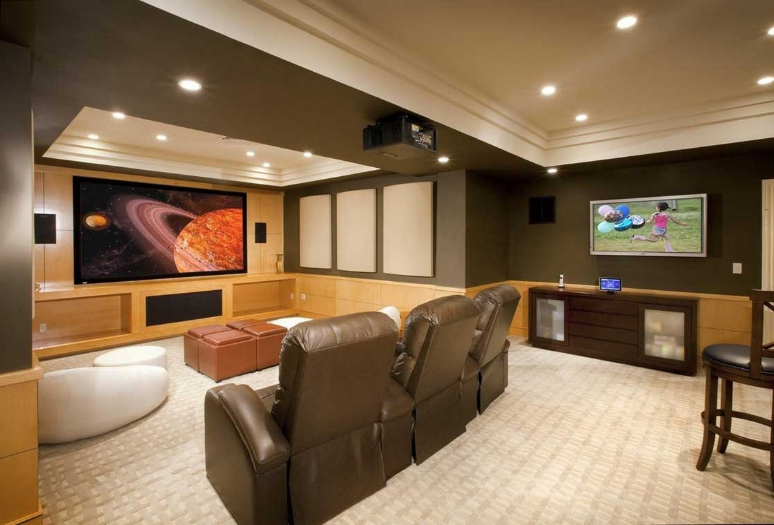 Media Room Wall Art Within Well Known Finished Basement Ideas On A Budget With Wall Art — Rmrwoods House (View 12 of 15)