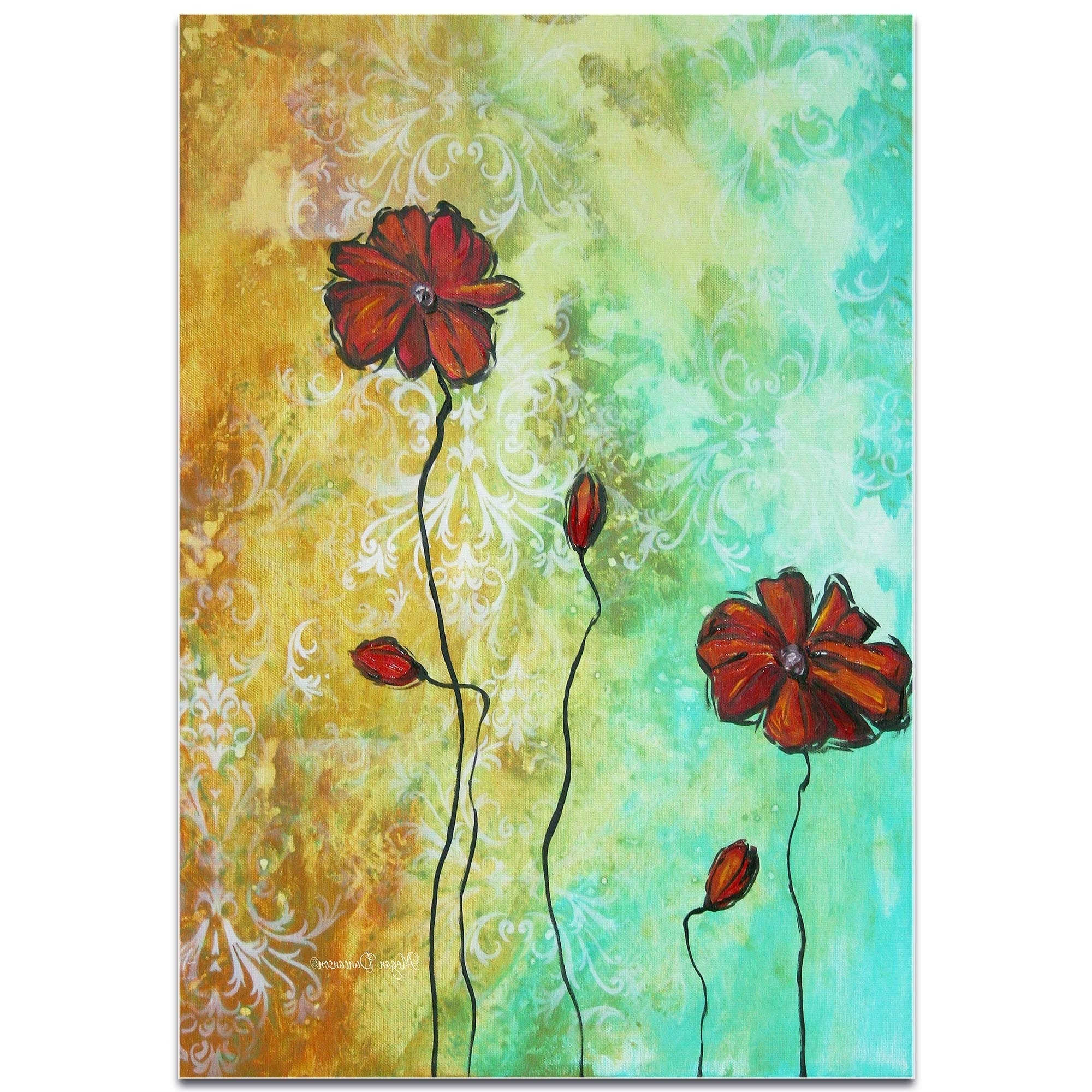 Megan Duncanson Metal Wall Art With Most Recent Metal Art Studio 'poppy Love'megan Duncanson High Gloss (View 5 of 15)