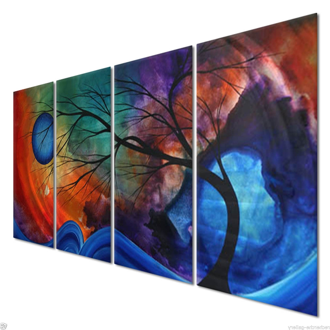 Megan Duncanson Metal Wall Art Within Well Known 51X24 Megan Duncanson Cosmic Collision Modern Home Decroe (View 7 of 15)
