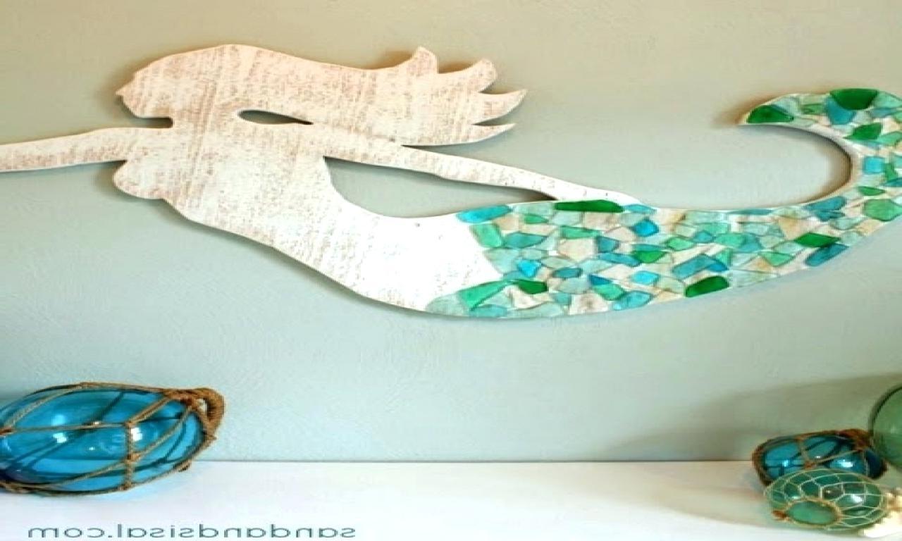 Mermaid Wood Wall Art Regarding Newest Metal Mermaid Wall Decor Awesome Ceramic Hanging Magic Art (View 14 of 15)