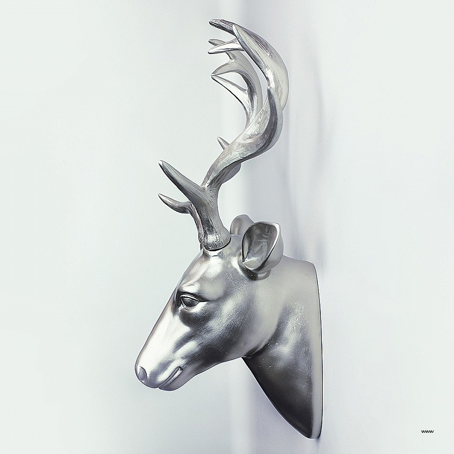 Metal Animal Heads Wall Art Awesome Buck Deer Head Mountain Scene With Widely Used Metal Animal Heads Wall Art (View 5 of 15)