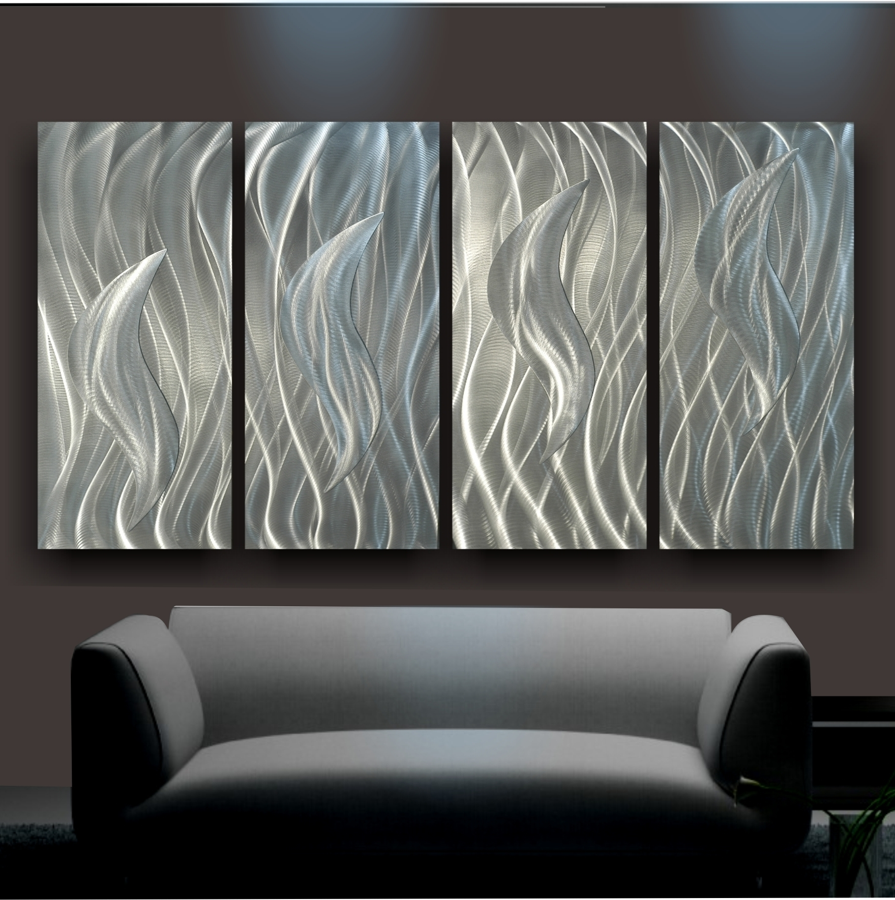Metal Art For Wall Hangings Pertaining To Most Current Wall Art Ideas Design : Decorative Silver Metal Art For Walls (View 7 of 15)
