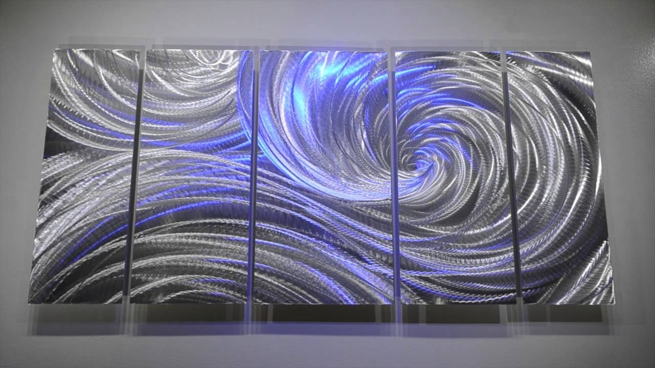 Metal Art Modern Wall Decor 3d Led Rgb Halogen Lights Original Within Well Known Abstract Metal Wall Art Sculptures (View 14 of 15)
