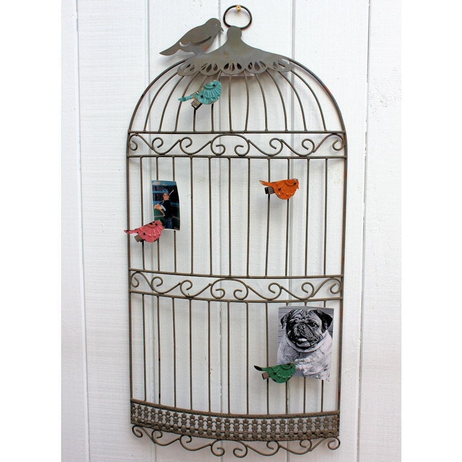 Metal Birdcage Wall Art In Newest Nobby Design Birdcage Wall Decor Bird Cage Decoration At Big Lots (View 7 of 15)