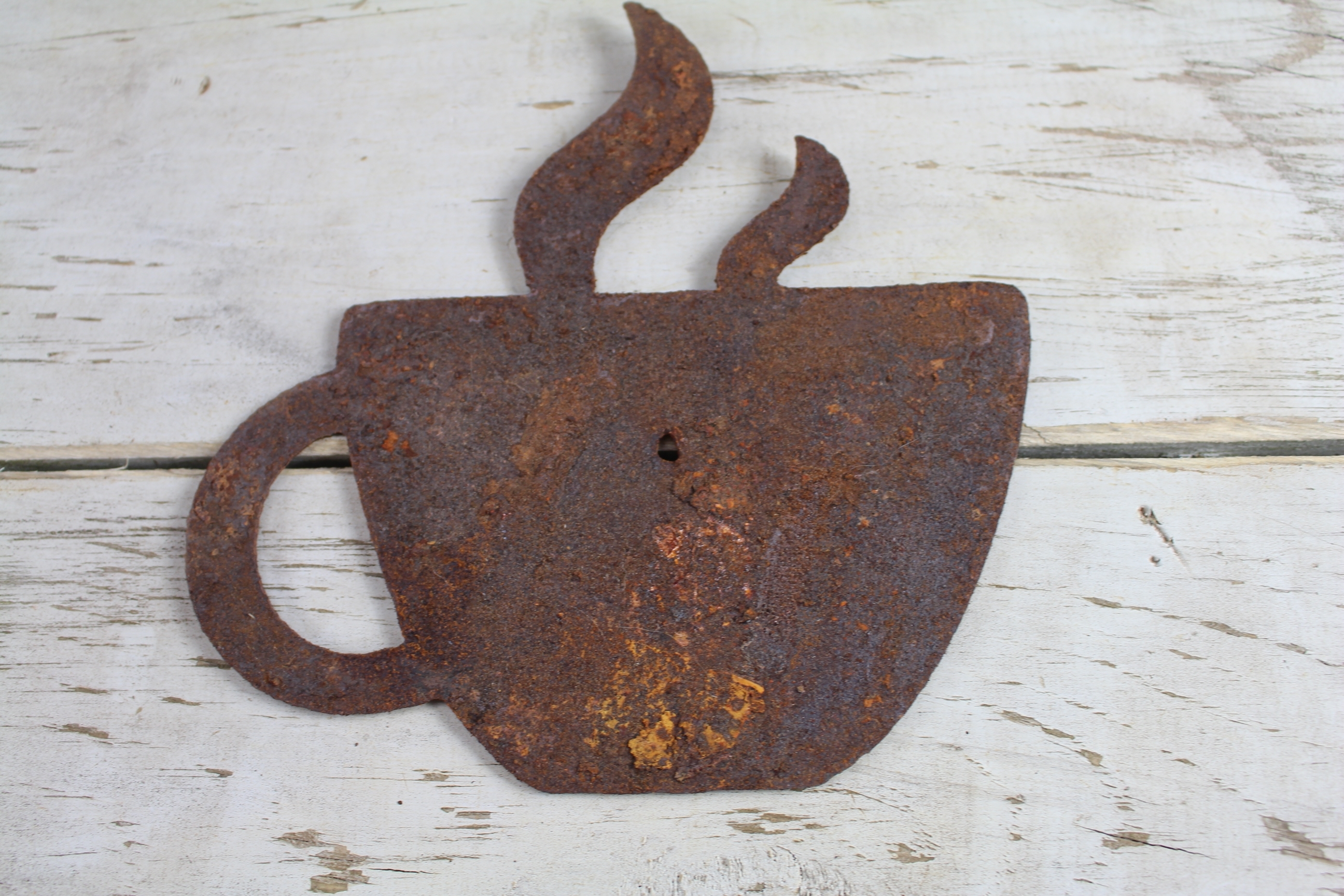 Metal Coffee Cup Wall Art For Newest Thick Rusty Metal Coffee Cup – Rustic Metal Letters & Wall Art (View 13 of 15)
