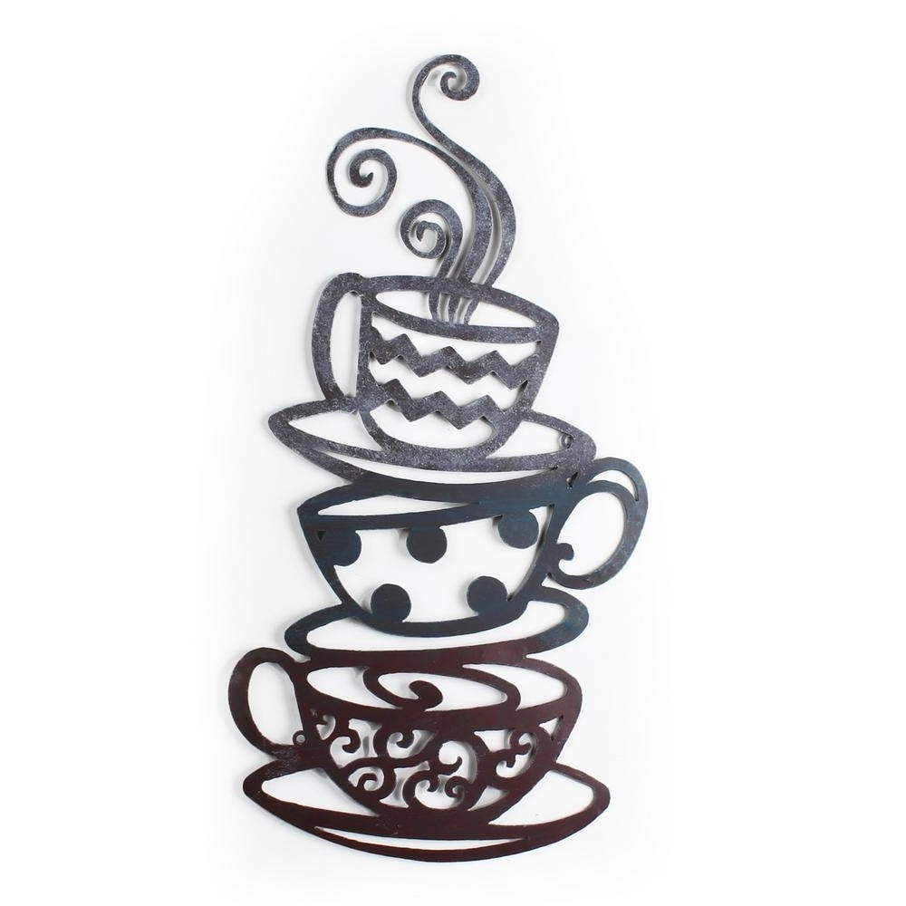 Metal Coffee Cup Wall Art Within Most Current 24 In. X 31 In (View 8 of 15)