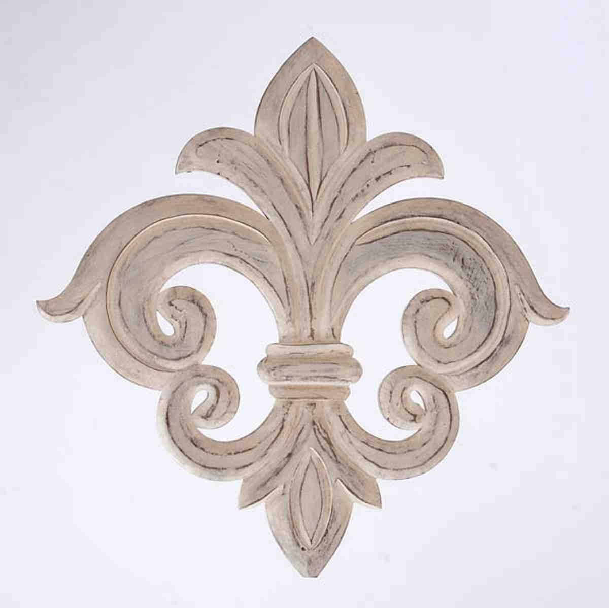 Metal Fleur De Lis Wall Art For Trendy Wrought Iron Fleur De Lis Wall Decor (View 4 of 15)