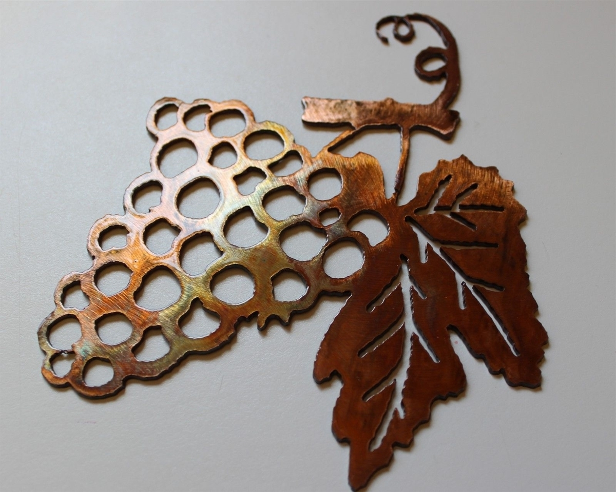 Metal Grape Wall Art Inside Recent Grape Bushel Copper/bronze Metal Wall Art (View 8 of 15)