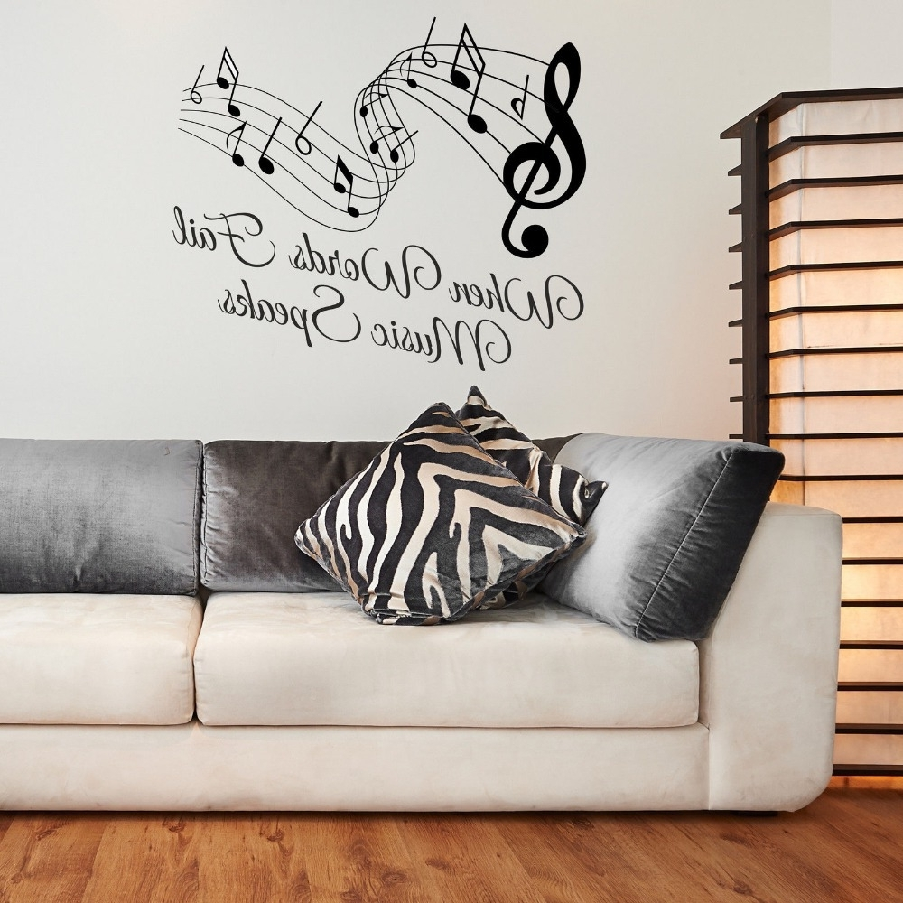 Metal Music Notes Wall Art Inside Recent Homely Ideas Music Note Wall Art Musical Wood Metal Bird Decor (View 9 of 15)
