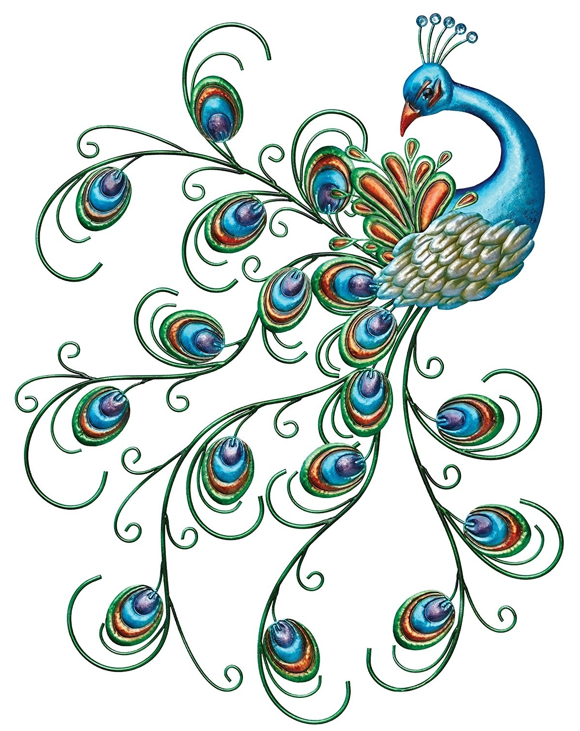 Metal Peacock Wall Art Throughout Widely Used Amazon : Regal Art & Gift Pretty Peacock Wall Decor : Wall (View 10 of 15)