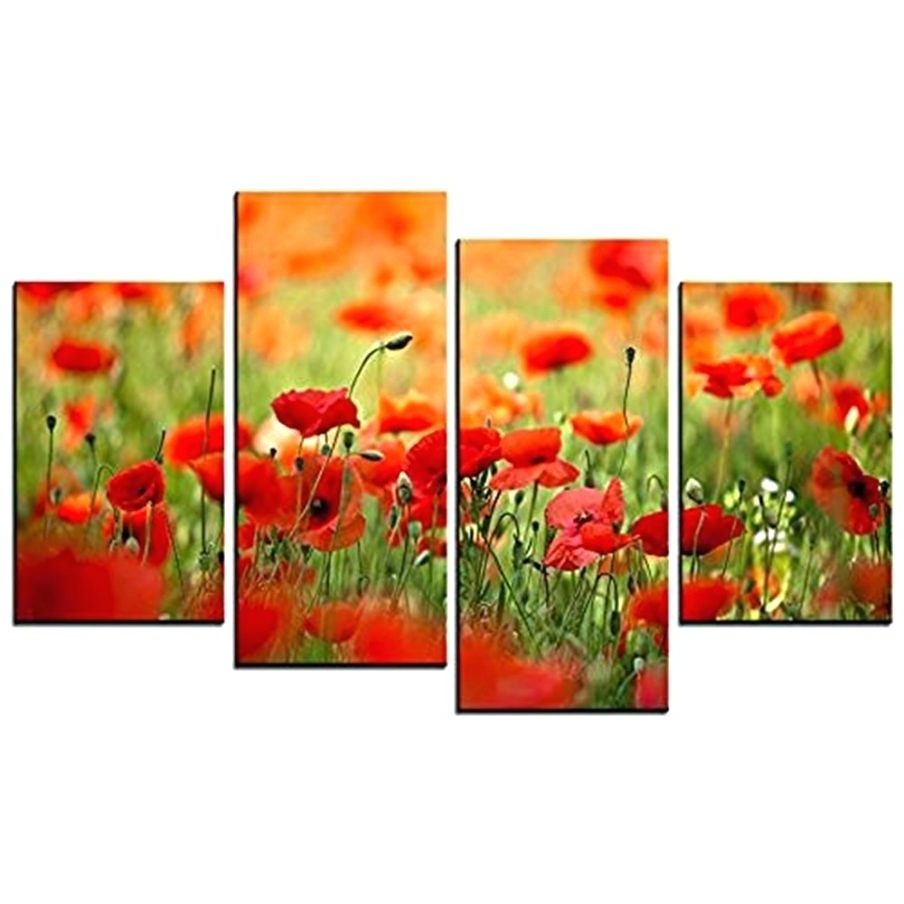 Metal Poppy Wall Art Pertaining To Best And Newest Wall Arts ~ Poppy Wall Art In Yellow Red Metal Poppy Wall Art (View 4 of 15)