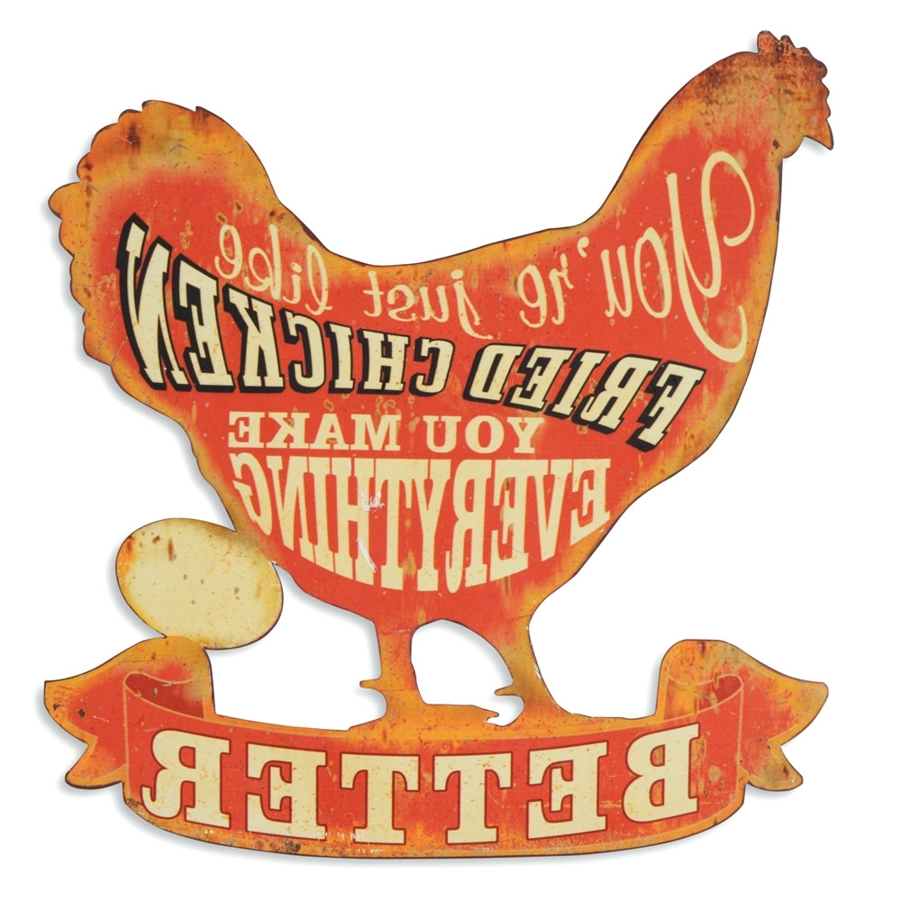 Metal Rooster Wall Decor With Regard To Preferred Wall Arts ~ Wondrous Rooster Wall Art Decorations Retro Vintage (View 6 of 15)