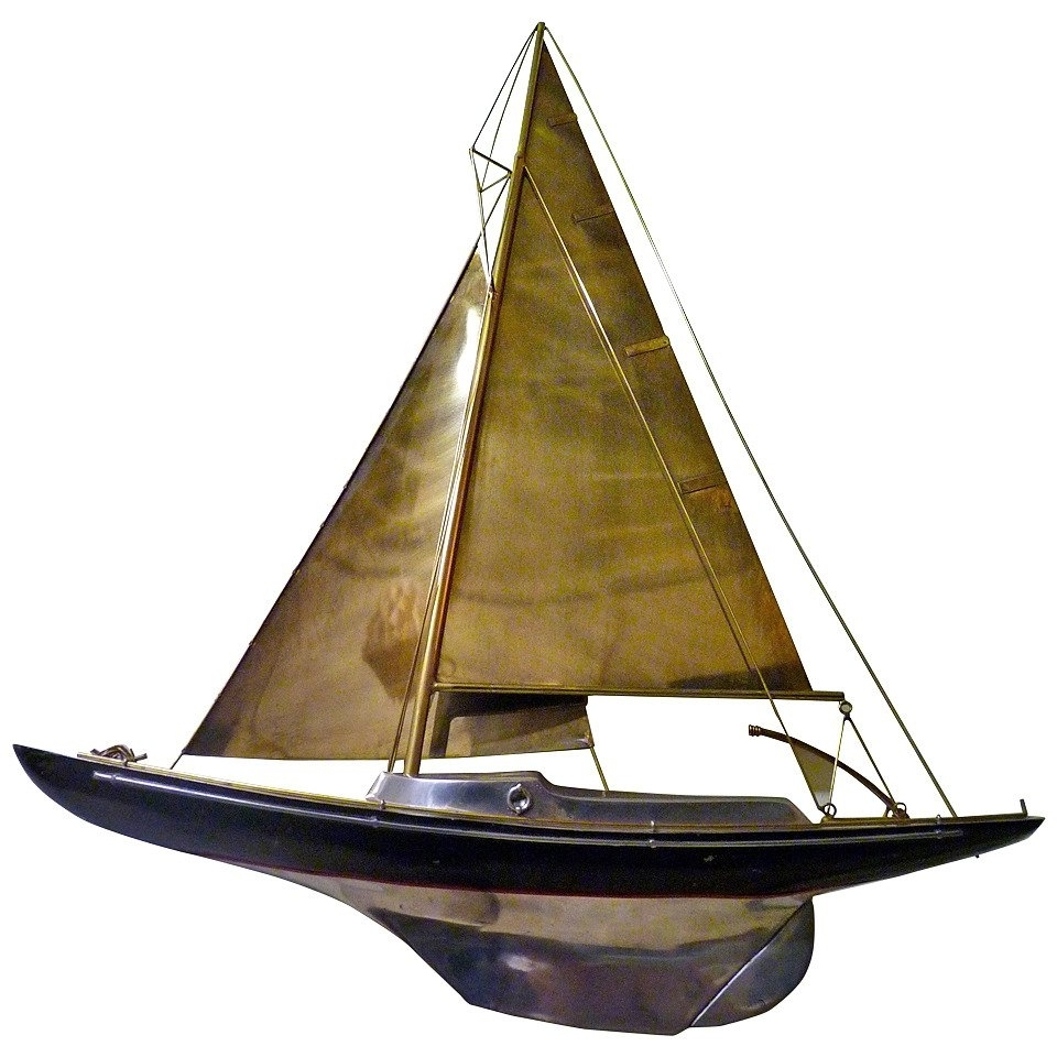 Metal Sailboat Wall Art In Trendy Sailboat Wall Sculpturecurtis Jere For Sale At 1stdibs (View 9 of 15)