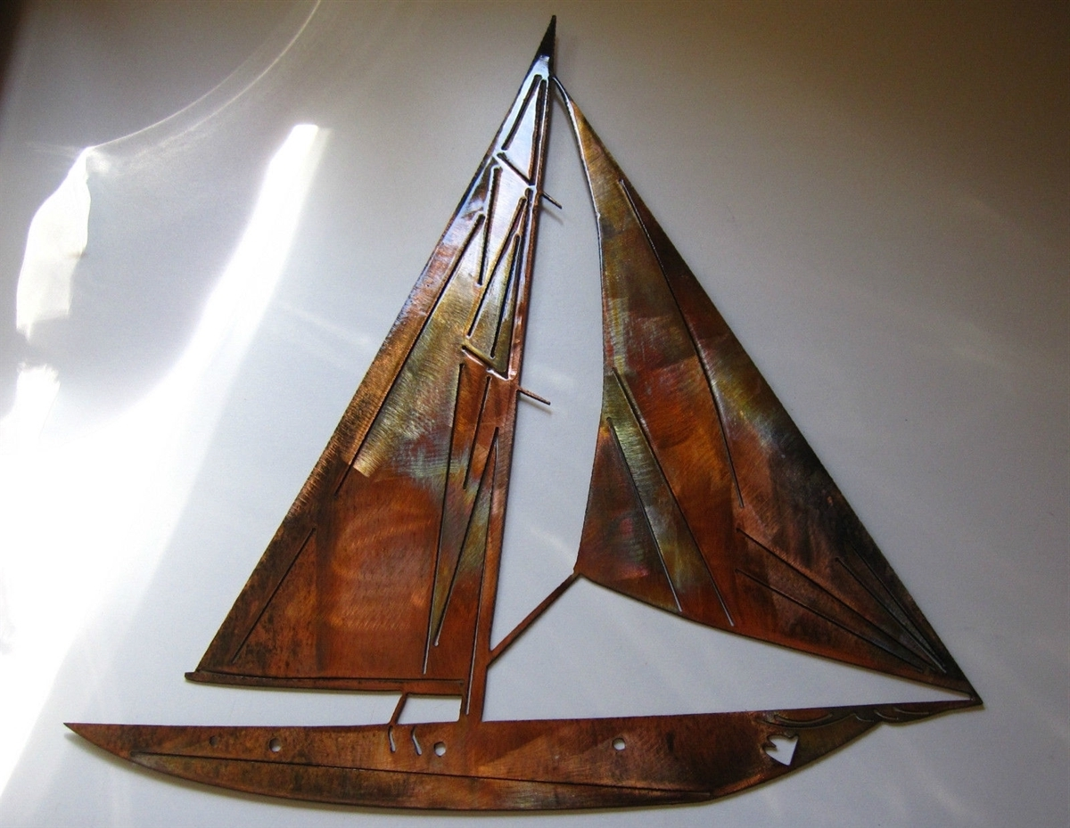 Metal Sailboat Wall Art Regarding Well Known Sailboat Metal Wall Art (View 10 of 15)