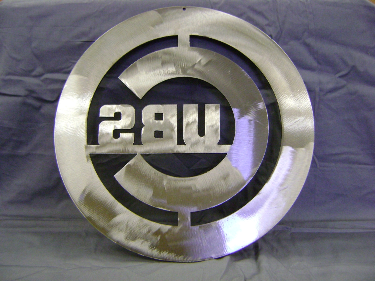 "Metal Sign, Steel Sign, ""chicago Cubs"" Sign, Baseball Sign, Wall Within Well Known Chicago Cubs Wall Art (View 7 of 15)"
