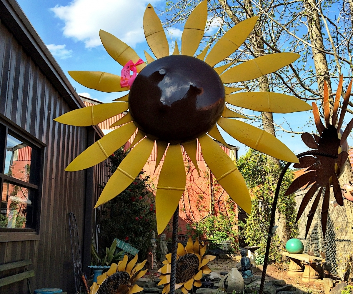 Metal Sunflower Yard Art In Best And Newest Alluring Garden Sculpture Upcycled Scrap Metal Owl Rustic (View 6 of 15)