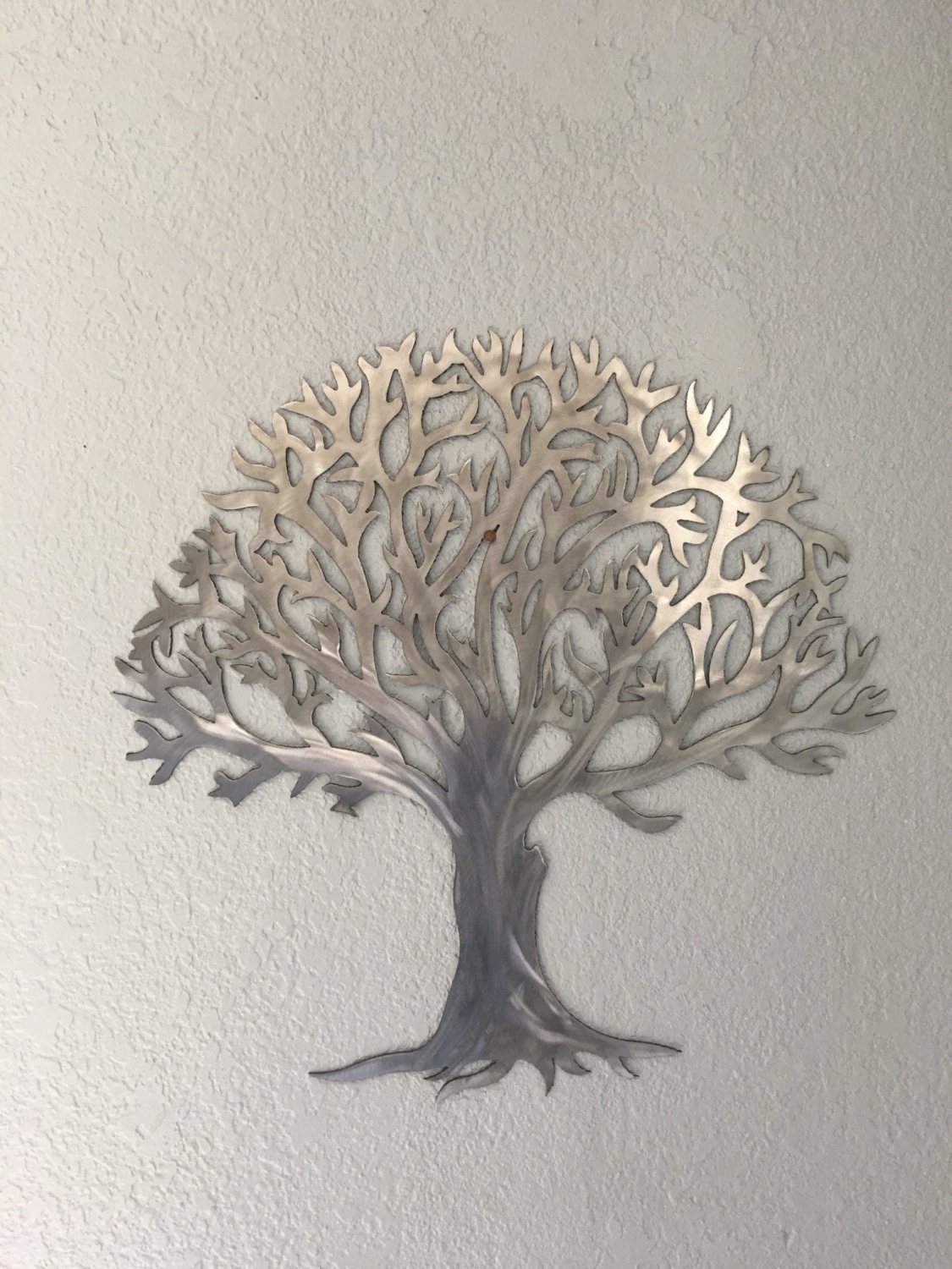 Metal Tree Stainless Steel Tree  Wall Art  Wall Decor Intended For 2017 Iron Tree Wall Art (View 6 of 15)