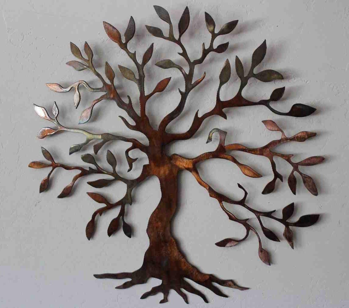 Metal Tree Wall Art Sculpture Inside Newest Wall Art Designs: Metal Wall Art Decor And Sculptures Outdoor (View 2 of 15)