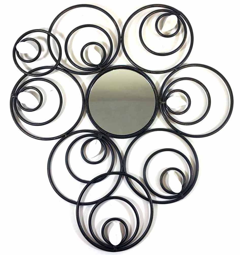 Metal Wall Art – Abstract Circle Disc Mirror Regarding 2018 Abstract Circles Wall Art (View 4 of 15)