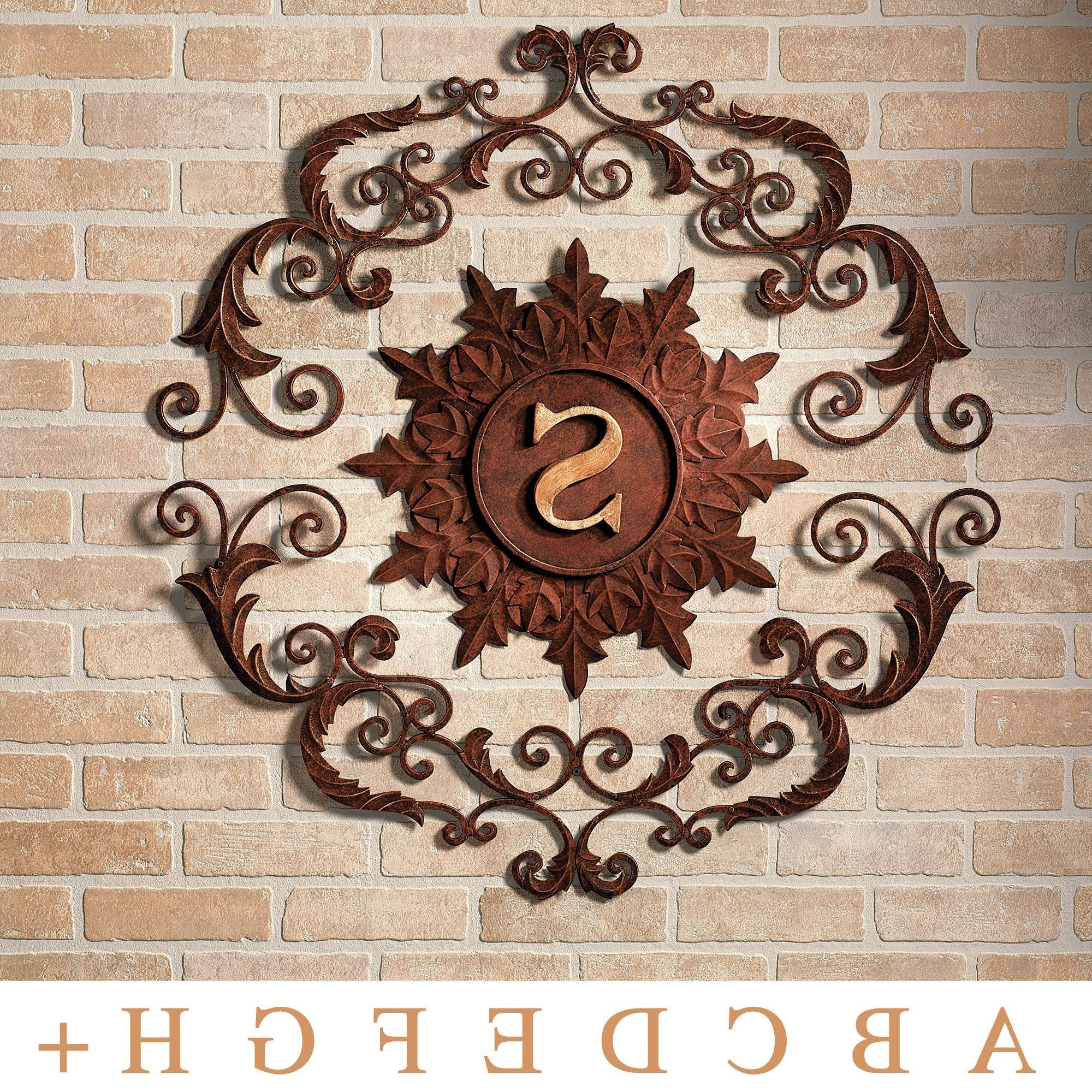 Metal Wall Art For Outdoors In Newest Kingston Monogram Metal Wall Grille (View 9 of 15)