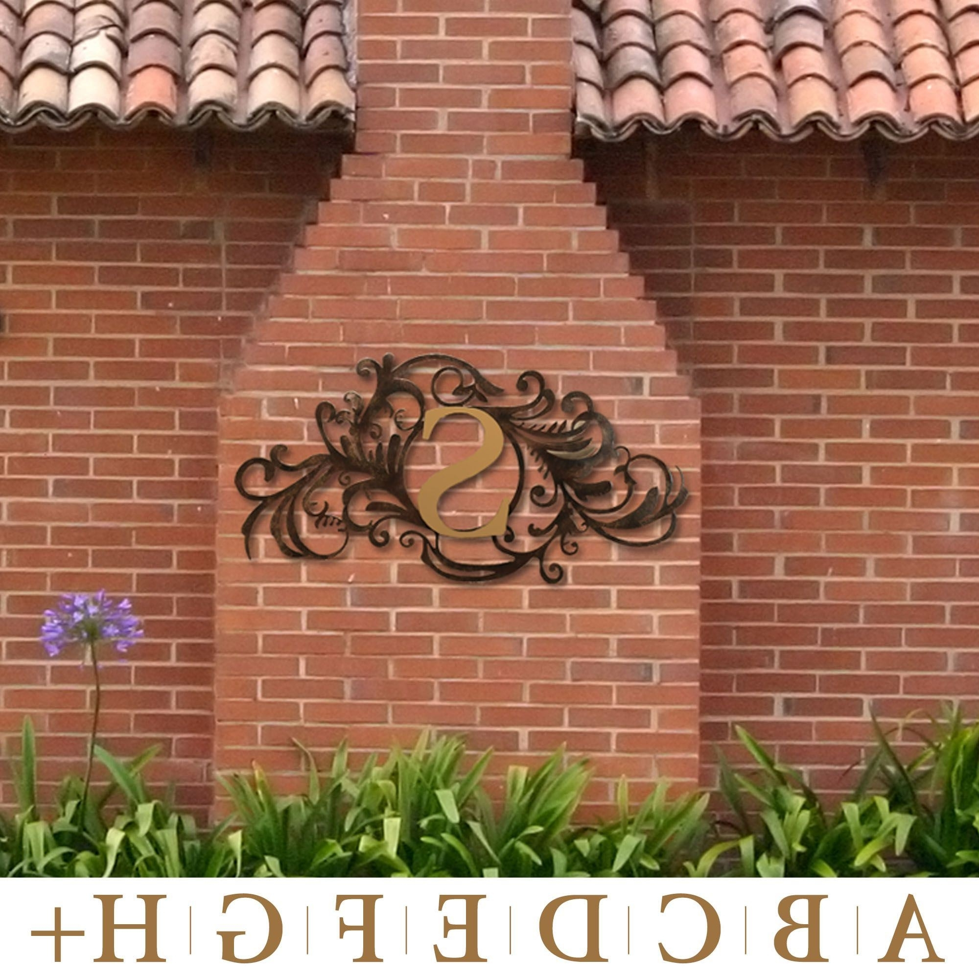 Metal Wall Art For Outdoors Inside 2018 Evanston Indoor Outdoor Monogram Metal Wall Art Sign (View 7 of 15)