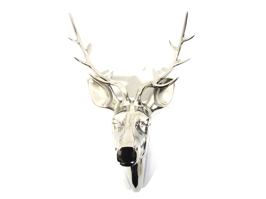 Metal Wall Art – Large Deer Stag Head For 2018 Stags Head Wall Art (View 14 of 15)