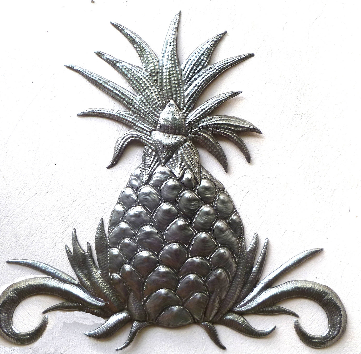 Metal Wall Decor – Pineapple Wall Art, Haitian Art, Metal Wall With Current Pineapple Metal Wall Art (View 8 of 15)